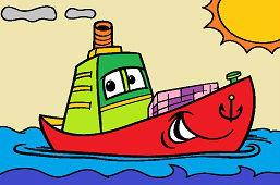 Лодка и солнце