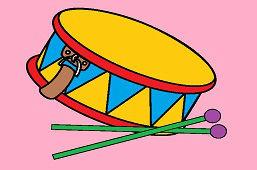 Барабан с палочками