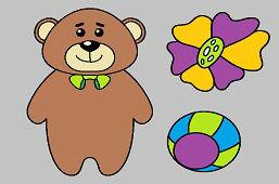Медведь и цветок
