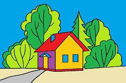 Дом рядом с лесом