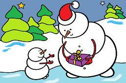 Подарок для снеговика