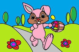 Кролик с корзиной