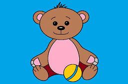 Медведь с мячом