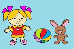 Маленькая девочка и кролик