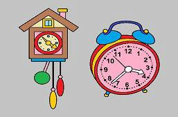 Будильник и часы с кукушкой