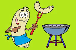 Гриль колбаска