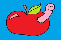 Червь в яблоке