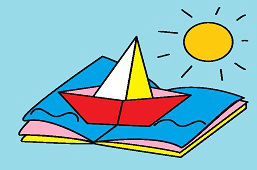 Лодка в книге