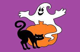 Черная кошка и призрак