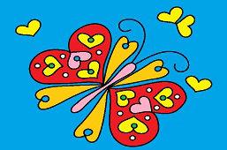 Бабочка с сердцем на крыльях