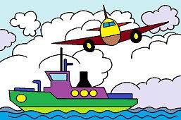 Cамолёт и корабль