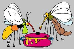Комары любят сладкое
