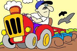 Фермер на тракторе