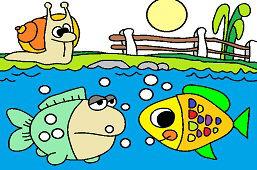 Улитка и рыбы