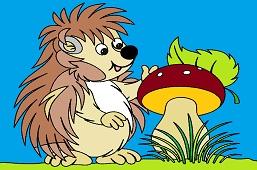 Ёжик и гриб