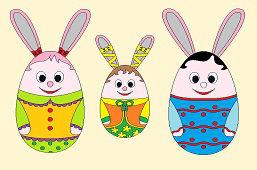 Три Пасхальные кролики