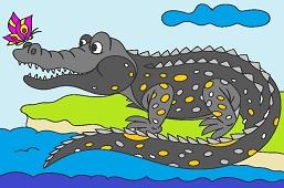Крокодил и бабочка