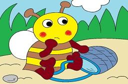 Пчёлка с корзиной