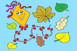Кайт и листья