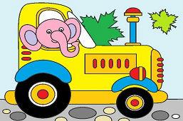 Слон-тракторист