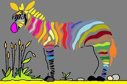 Красочная зебра