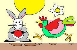 Курица и заяц