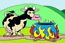 Голодная корова