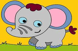 Маленький слонёнок