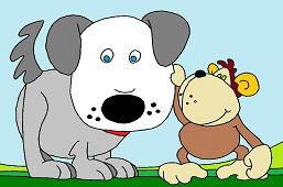 Собака и обезьяна