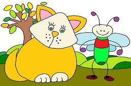Кот и маленькая муха