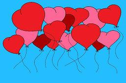 Сердечные шарики