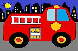 Пожарники в городе
