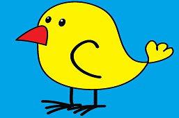Птица с красным клювом