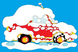 Автомобиль в снегу