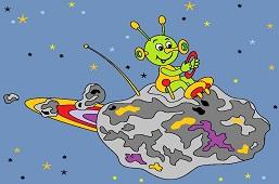 Инопланетянин на астероиде