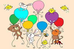 Животные с шарами