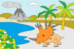 Стиракозавр в природе