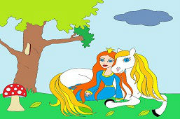 Принцесса и белая лошадь
