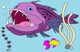 Морской чёрт и золотая рыбка