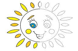 Счастливое улыбающееся солнце