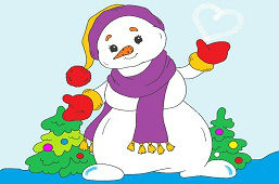 Снеговик с шарфом