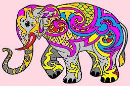 Красочный слон