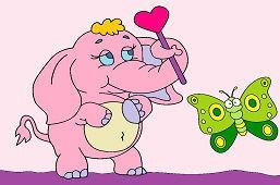 Cлон и бабочка