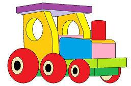 Деревянный игрушечный поезд