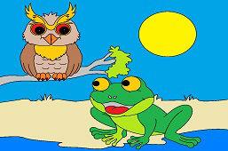 Лягушка и мудрая сова