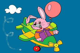 Кролик в cамолёте