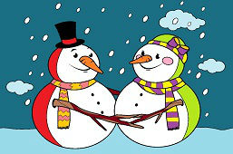 Мистер и миссис Снеговик