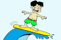 Молодой серфер